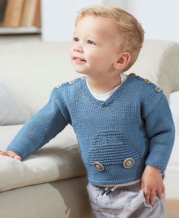 Knitting Pattern for Baby Car Sweater