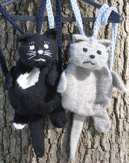 Free Knitting Pattern for Kitty Backpack