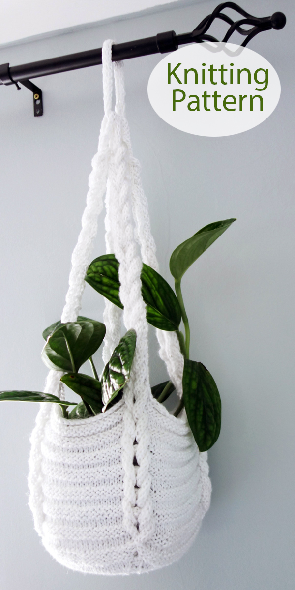 Knitting Pattern for Braided Plant Pot Hanger