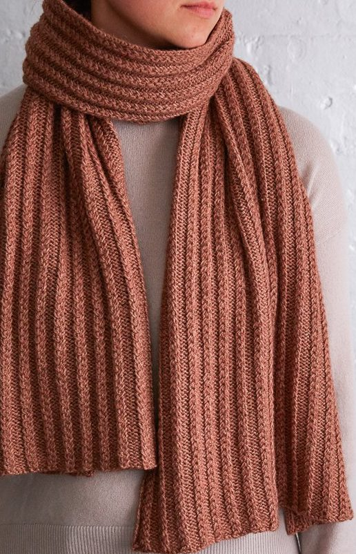 Free Knitting Pattern for 2 Row Repeat Braided Rib Wrap