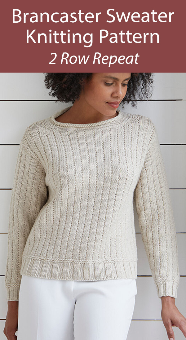 Sweater Knitting Pattern 2 Row Repeat Brancaster Sweater