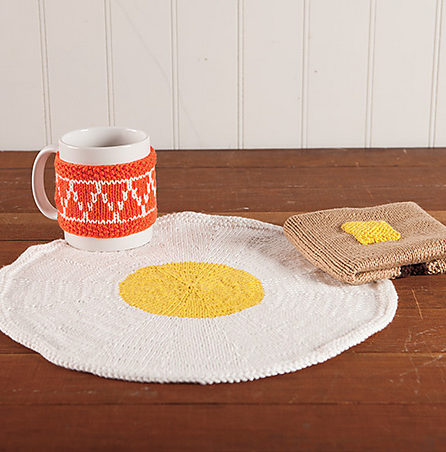 Free Knitting Pattern for Breakfast of Champions Table Set