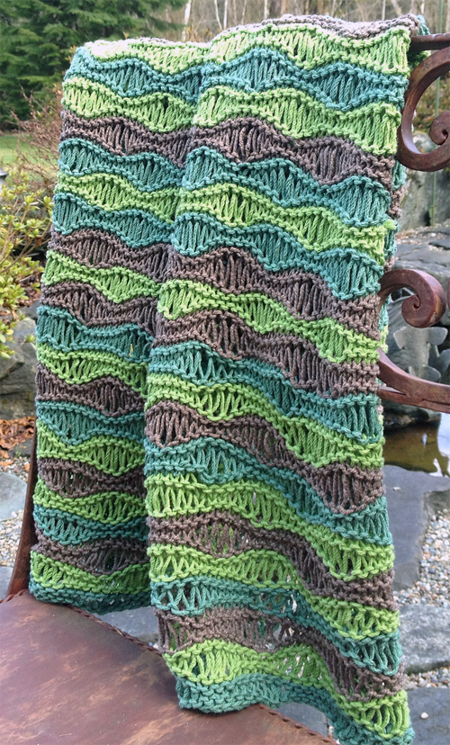 Free knitting pattern for breezy baby blanket