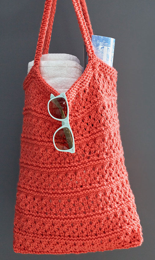 Free Easy Knitting Pattern for Breezy Knit Market Bag