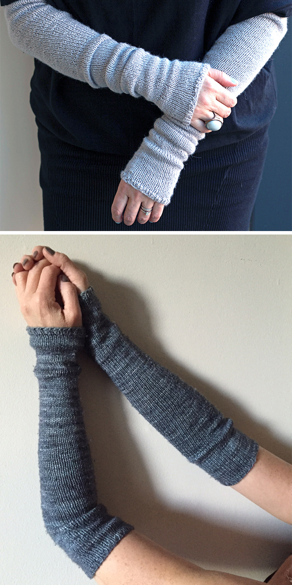 Free Knitting Pattern for Easy Bria Armwarmers