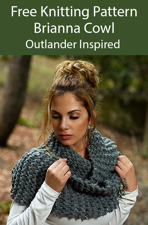 Free Knitting Pattern for Outlander Brianna Cowl