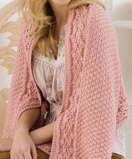 Free Knitting Pattern for Briar Rose Shawl
