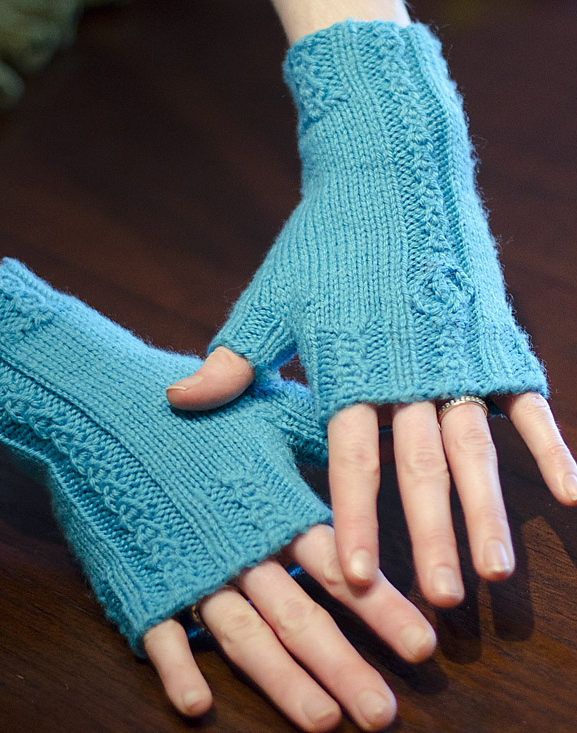 Free Knitting Pattern for Bridal Falls Gloves