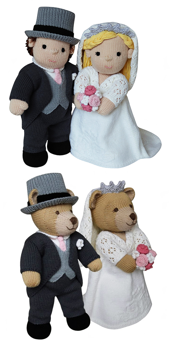 Knitting Pattern for Bride and Groom