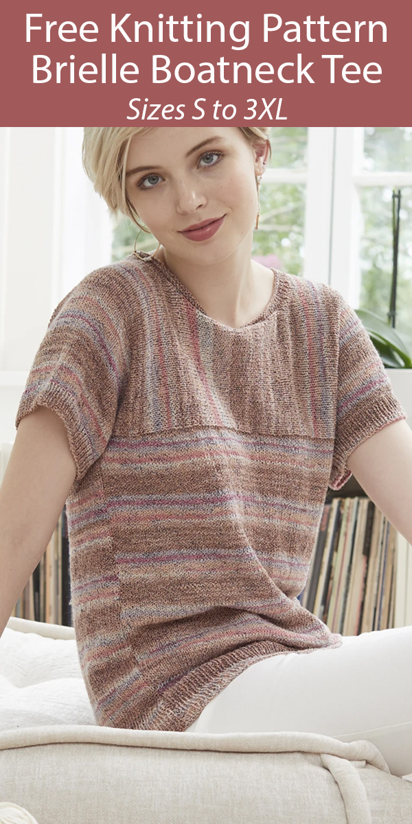 Free Knitting Pattern for Brielle Boatneck Tee