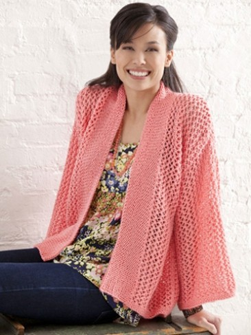 Free knitting pattern for Bright and Breezy Kimono