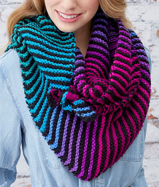 Free Knitting Pattern for Easy Brighten My Day Shawl