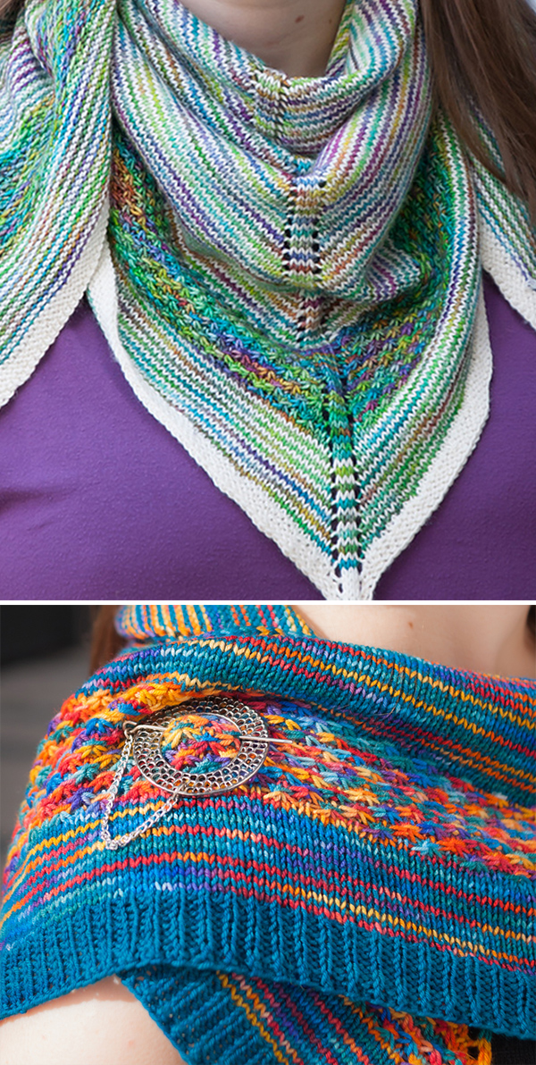 Knitting Pattern for Brightness and Contrast Shawl