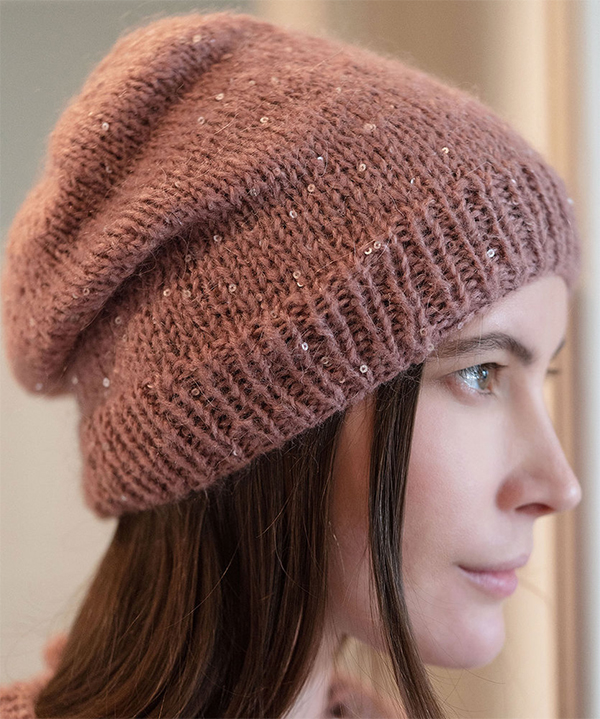 Free Knitting Pattern for Easy Brilla Beanie