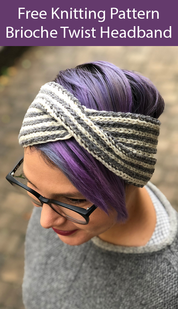 Free Knitting Pattern for Brioche Twist Headband
