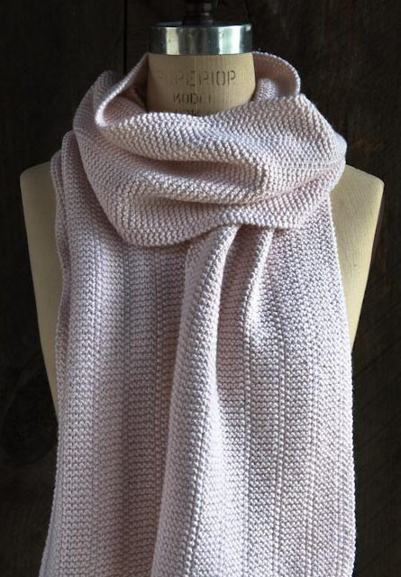 Free Knitting Pattern for 2 Row Repeat Scarf