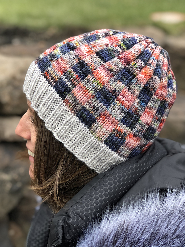 Free Knitting Pattern for Buffalo Plaid Beanie