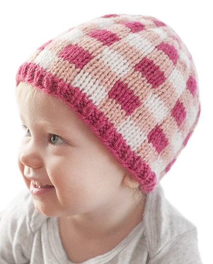 Knitting Pattern for Buffalo Plaid Baby Hat