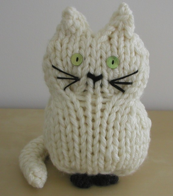 Knitting Pattern for Toy Cat