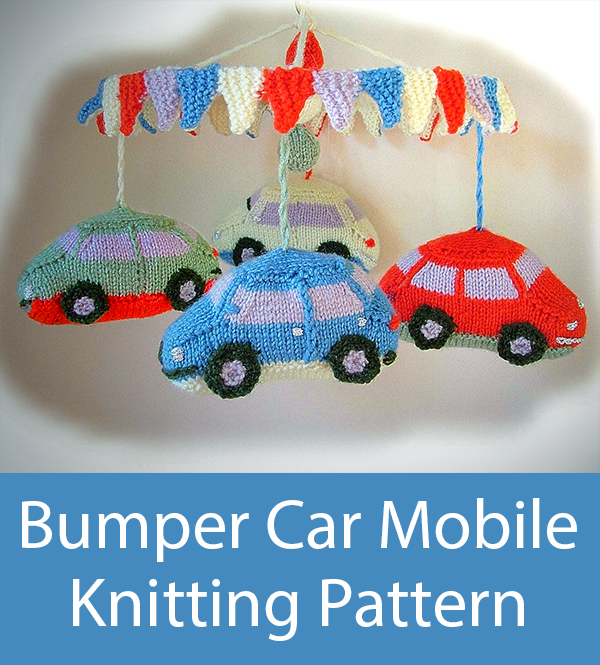 Knitting Pattern for Bumper Car Mobile