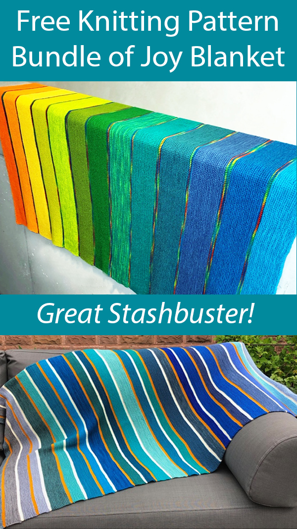 Free Knitting Pattern for Bundle of Joy Baby Blanket Stashbuster