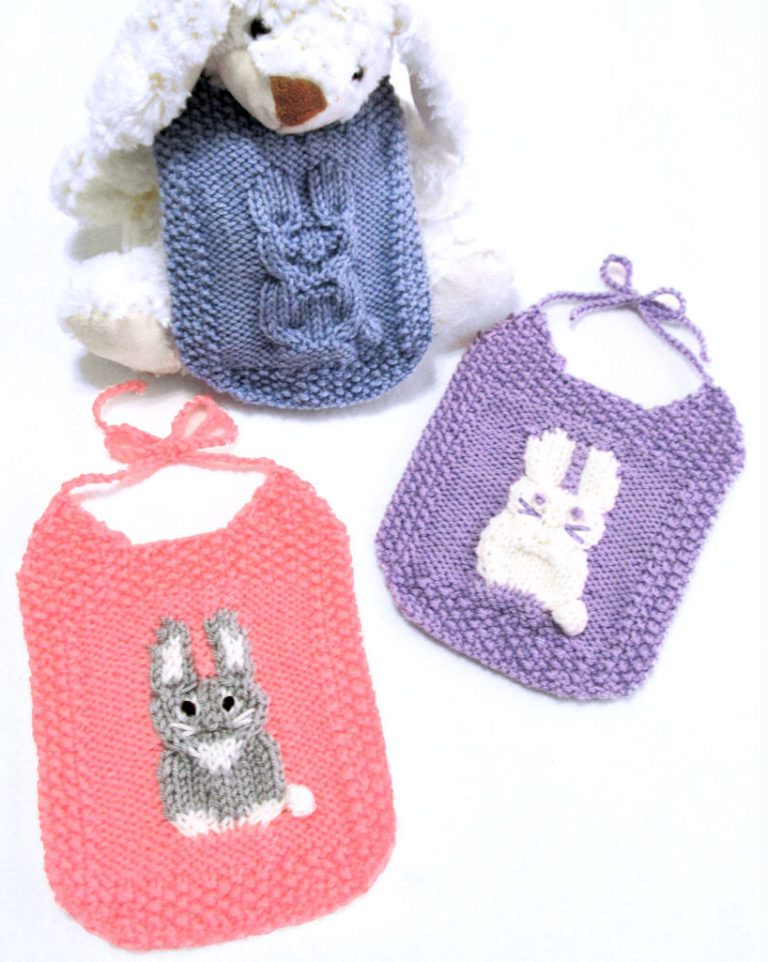 Knitting Pattern for Bunny Bibs