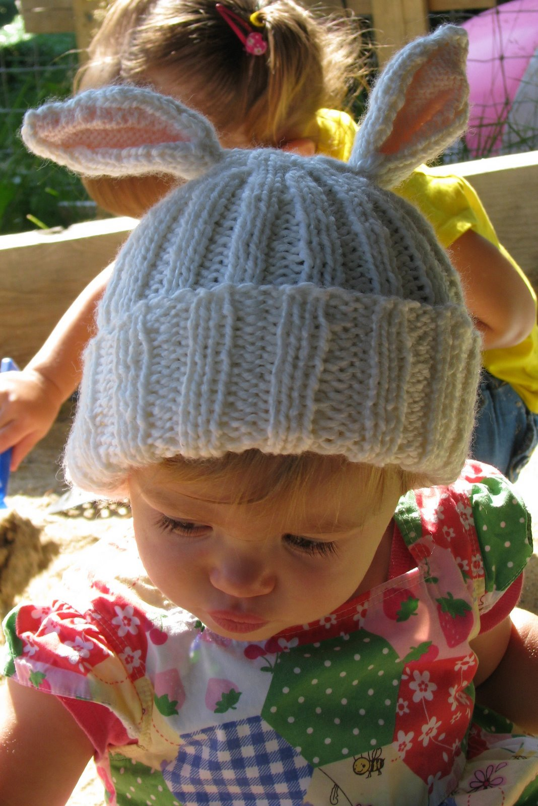 Free knitting pattern for Bunny Ears Hat