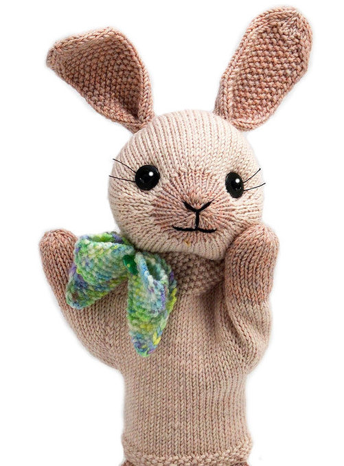 Knitting Pattern for Bunny Puppet