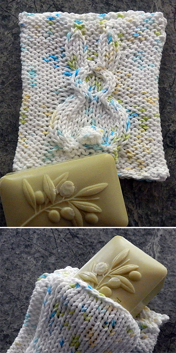 Knitting pattern for Bunny Spa Cloth