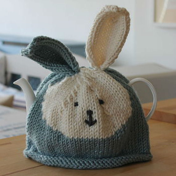 Bunny Tea Cosy Knitting Pattern and more cosy /cozy knitting patterns