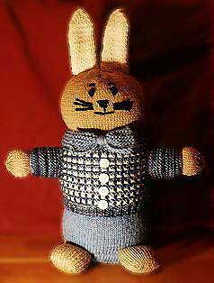 Dapper Rabbit Free Knitting Pattern | Free Bunny Rabbit Knitting Patterns at http://intheloopknitting.com/free-bunny-knitting-patterns