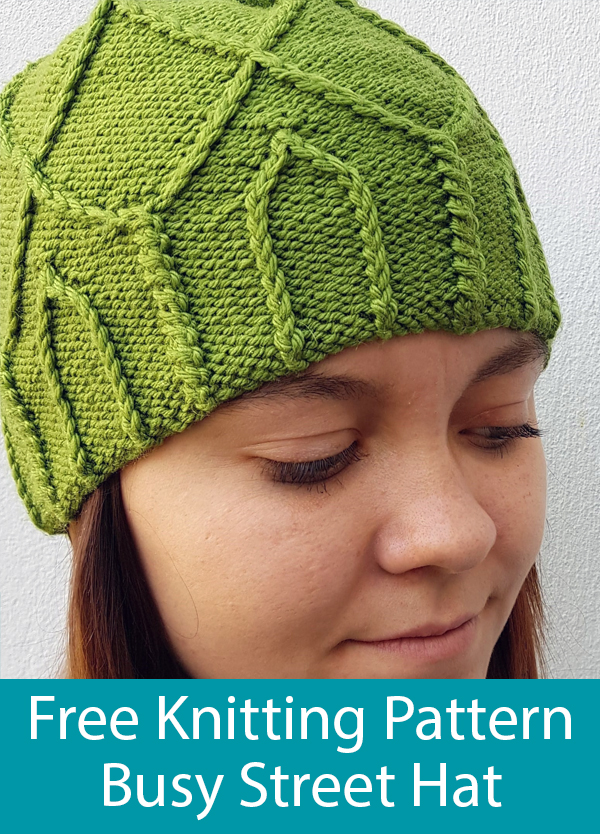 Free Knitting Pattern for Busy Street Hat