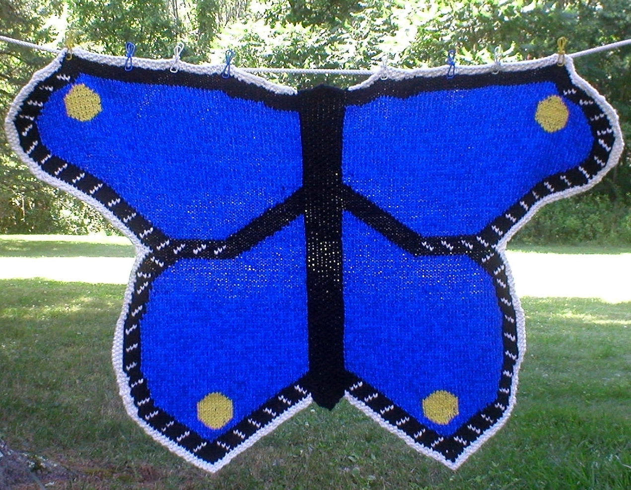 Knitting Pattern for Butterfly Baby Blanket