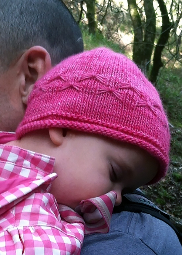 Free Knitting Pattern for Easy Butterfly Baby Hat