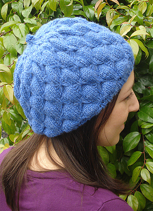 Free Knitting Pattern for Butterfly Beret