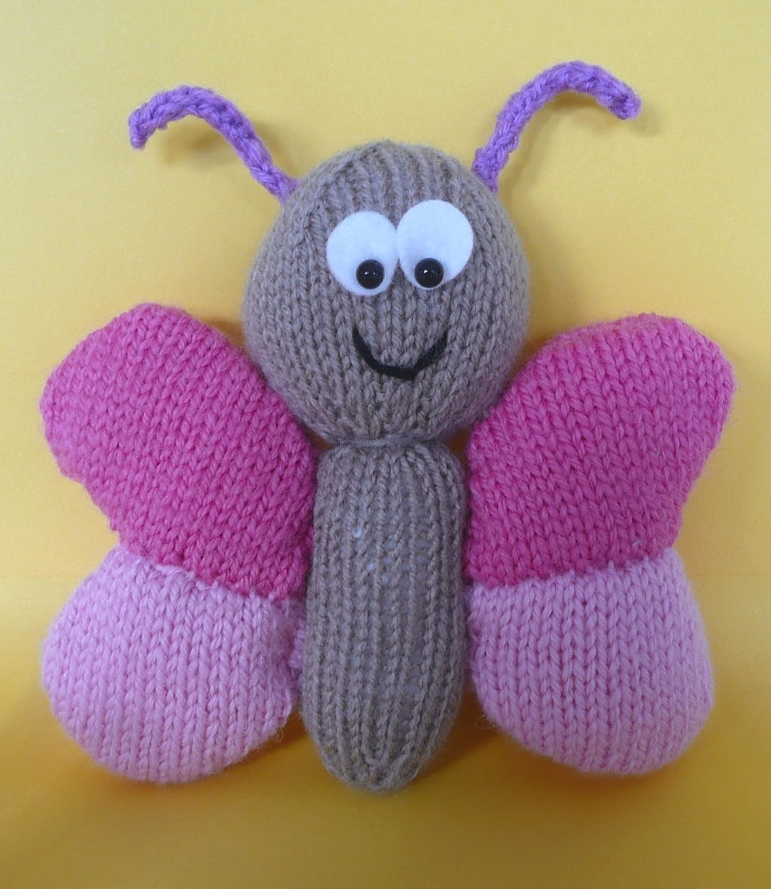 Free Knitting Pattern for Butterfly Softie