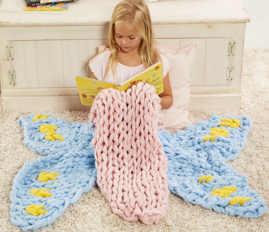 Free Knitting Pattern for Arm Knit Butterfly Sleep Sack