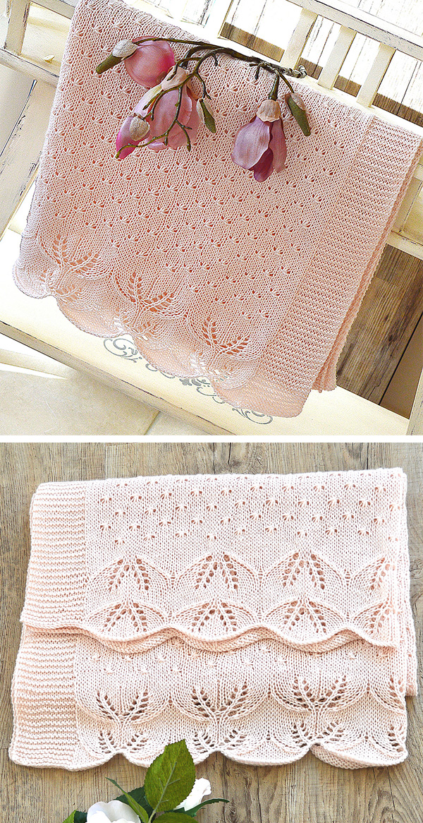 Knitting Pattern for Butterfly Kisses Baby Blanket