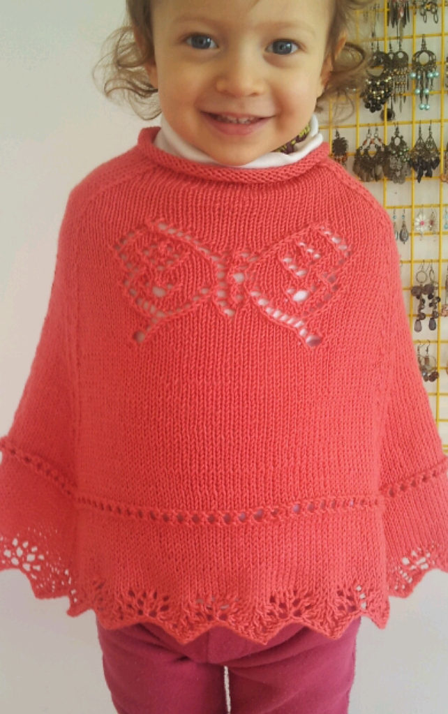 Free Knitting Pattern for Butterfly Poncho