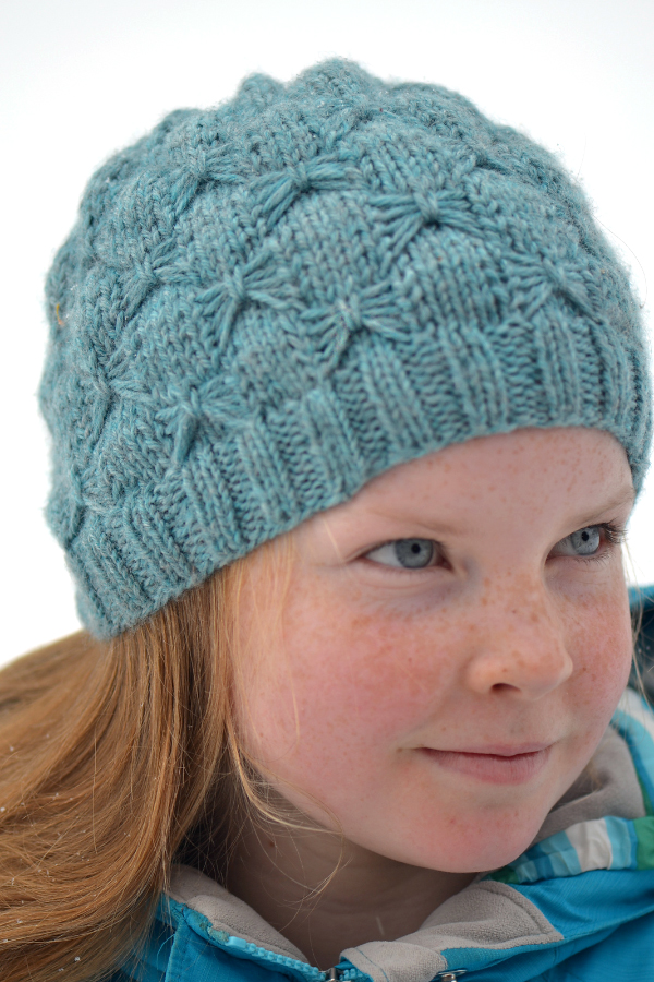 Free Knitting Pattern for Butterfly Stitch Hat