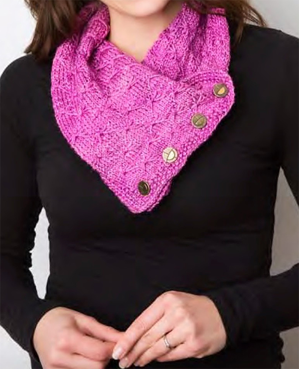Knitting Pattern for Butterfly Stitch Cowl