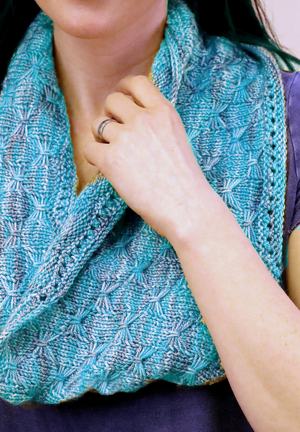 Free Knitting Pattern for Butterfly Stitch Cowl