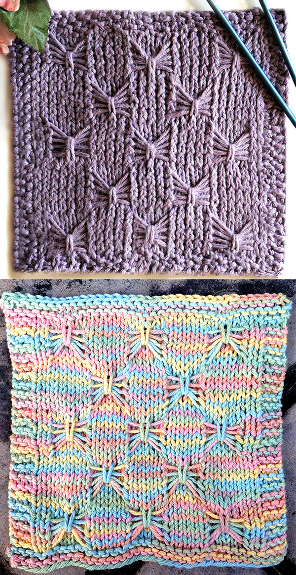 Butterfly or Bow Stitch Knitting Patterns- In the Loop Knitting