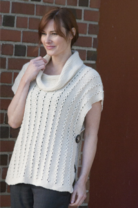 Free knitting pattern for Poncho Vest and more vest knitting patterns