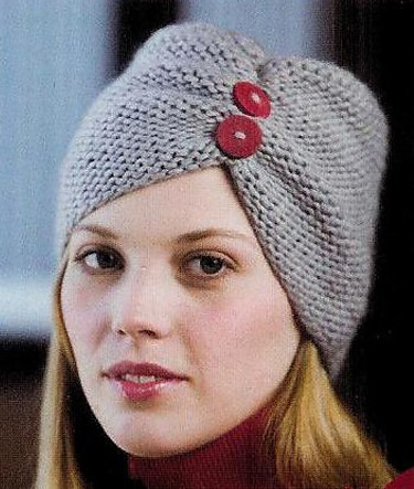 Pinch Hat Turban Knitting Pattern