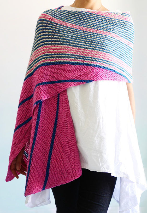 Knitting Pattern for By Airmail Wrap