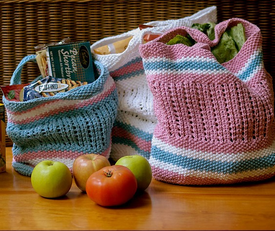 knitting pattern for BYOB -2.0 Bring your own bag tote
