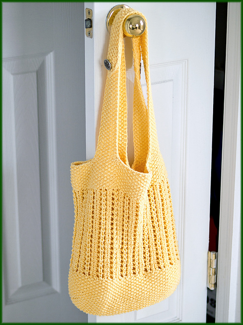 knitting pattern for BYOB Market Bag
