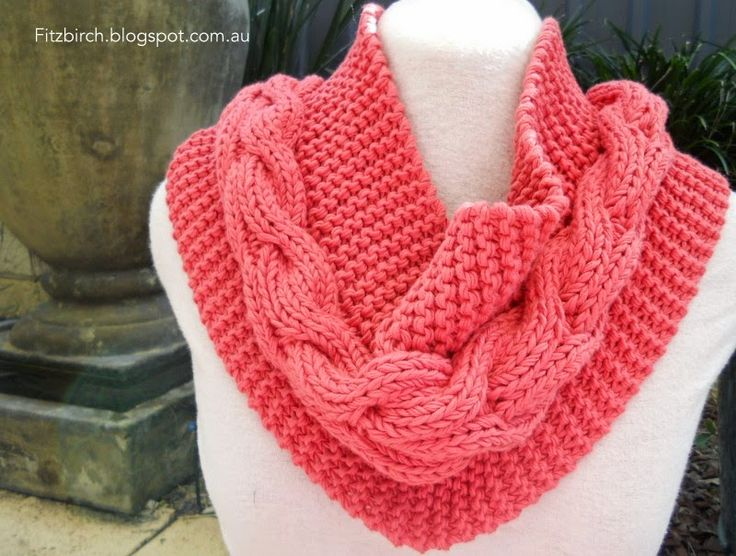 Cable and Garter Cowl Free Knitting Pattern and more free cowl knitting patterns