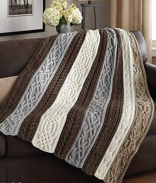 Knitting Pattern for Cable and Twists Afghan